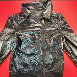 Stussy Black Women's Jacket 100% Nylon Windbreaker